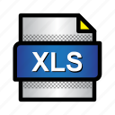 excel, extension, file, format, type, xls icon