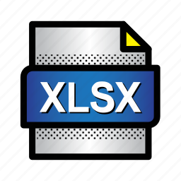 excel, extension, file, format, type, xls, xlsx icon