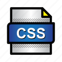 css, extension, file, format, type icon