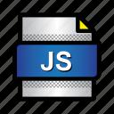 file, format, javascript, js, type icon