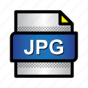 extension, file, format, image, jpeg, jpg, type icon