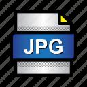 extension, file, format, image, jpeg, jpg, type icon