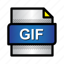 extension, file, format, gif, gif file, type icon