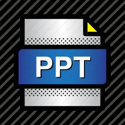 file, folder, format, powerpoint, ppt, presentation, type icon