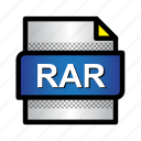 archive, compressed, extension, file, format, rar, type icon