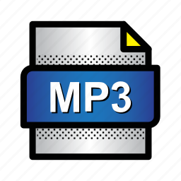 audio file, extension, file, format, mp3, music, type icon
