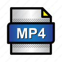 extension, file, format, mp4, mpeg, type icon
