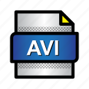 avi, extension, file, format, movie, type, video icon