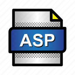 asp, data, extension, file, format, page, type icon