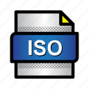 document, extension, file, files, format, iso, type icon