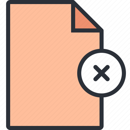 delete, document, file, paper, remove icon