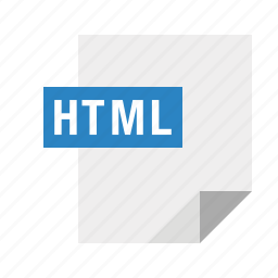 file, filetype, html, mime icon