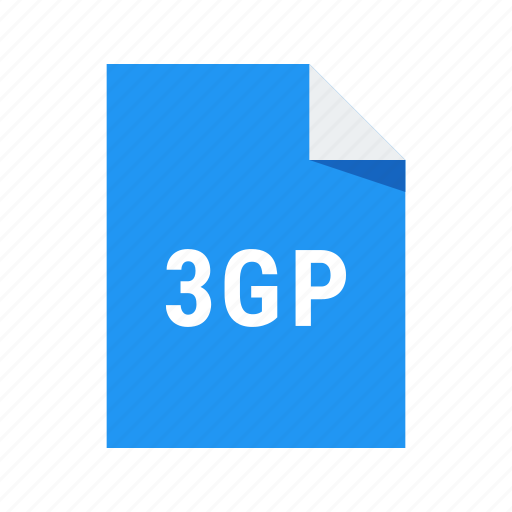 3gp, extension, file, format, video icon