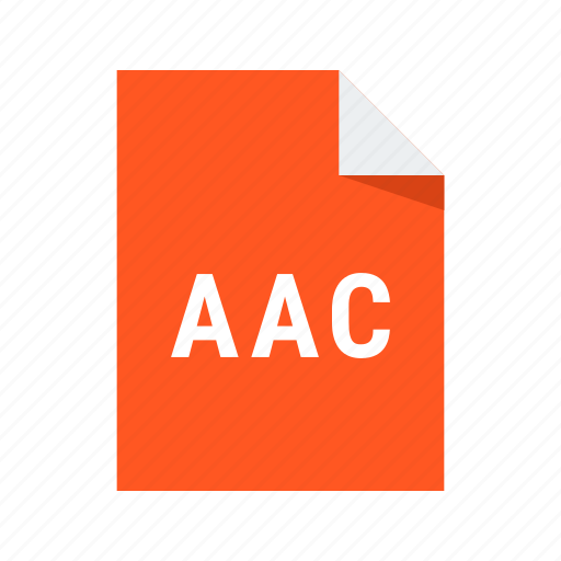 aac, audio, extension, file, format, sound icon