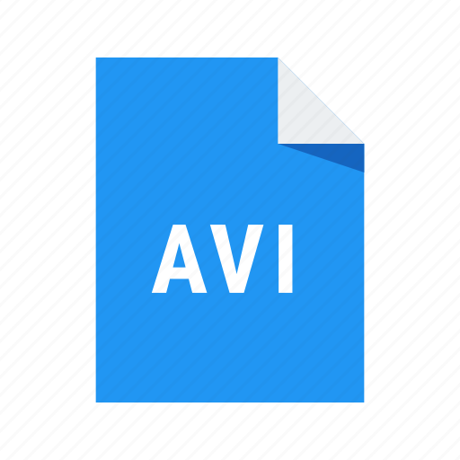 avi, extension, file, format, video icon