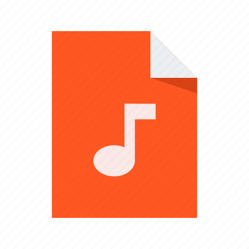 audio, file, music, note icon