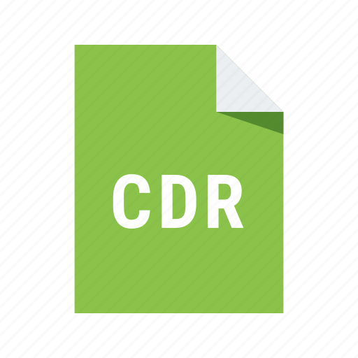 cdr, corel, extension, file, format icon