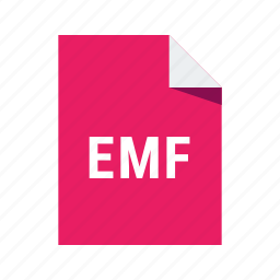 document, emf, file, format icon