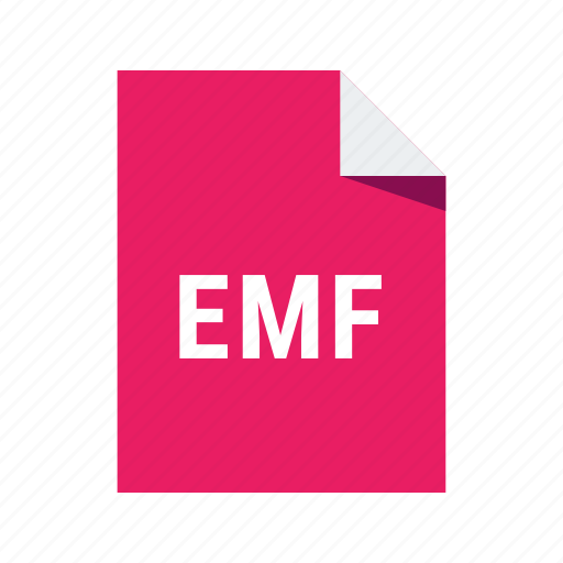 document, emf, file, format icon