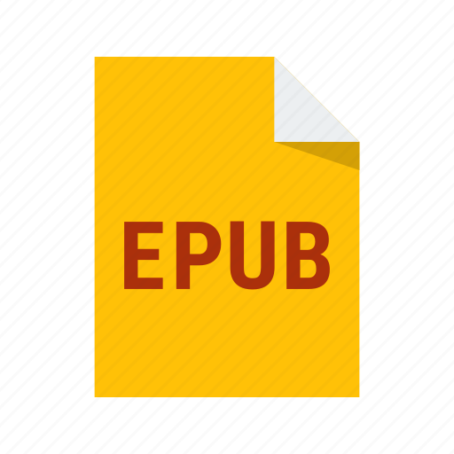 ebook, epub, extension, file, format icon