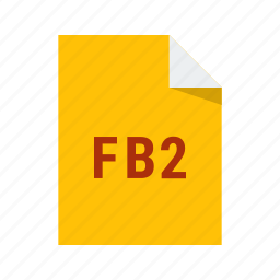 ebook, fb2, file, format icon