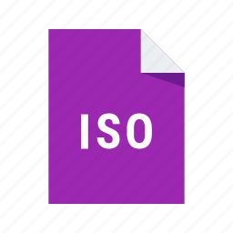 extension, file, image, iso icon