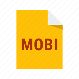 ebook, extension, file, format, mobi icon
