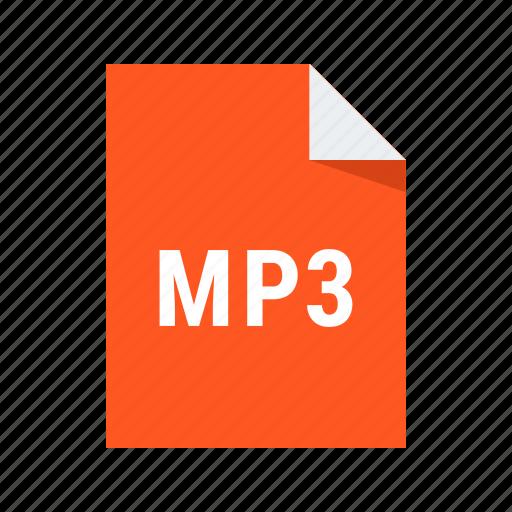 audio, file, mp3, music, sound icon