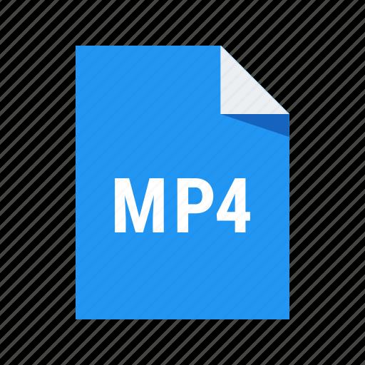 codec, file, format, mp4, video icon