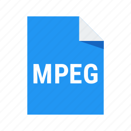 extension, file, format, mpeg, video icon
