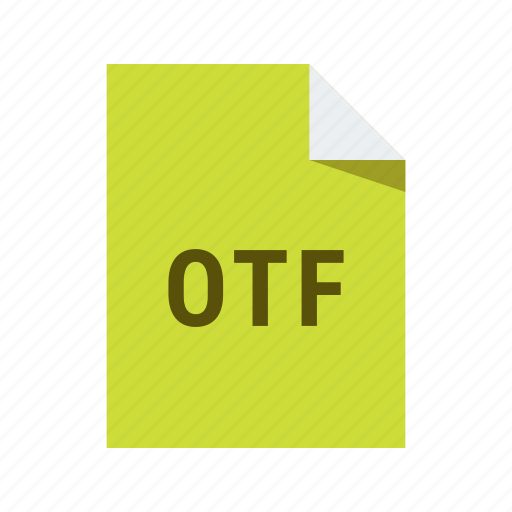 extension, file, font, format, otf icon