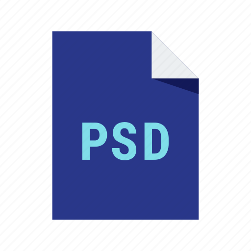 adobe, extension, file, format, image, psd icon