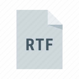 document, extension, file, format, rich, rtf, text icon