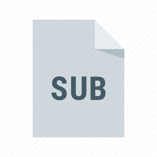 file, format, sub, text, video icon