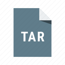 archive, compressed, extension, file, tar icon