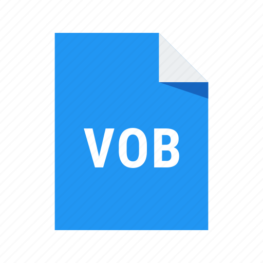 extension, file, format, video, vob icon