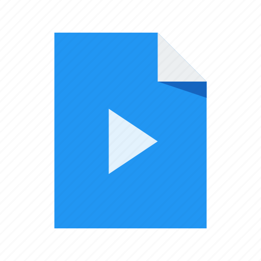 document, file, format, video icon