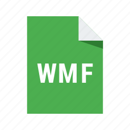 extension, format, vector, wmf icon