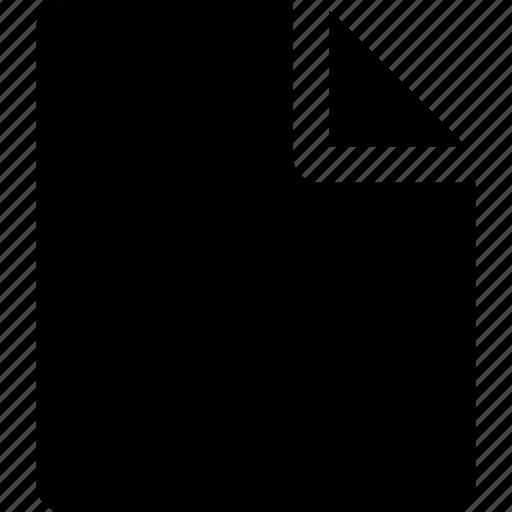 black file, black paper, file icon