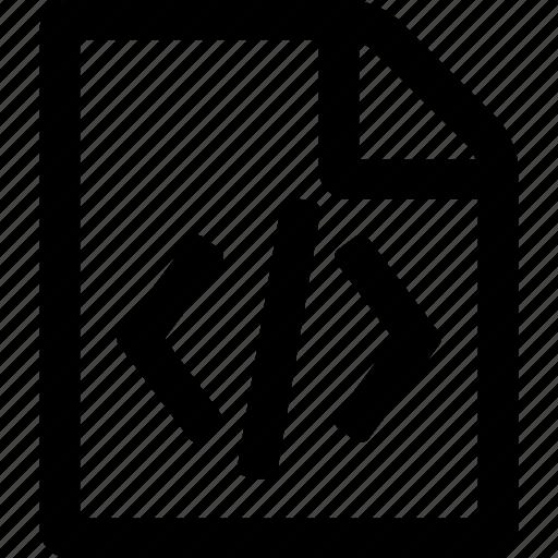 code, code file, file icon