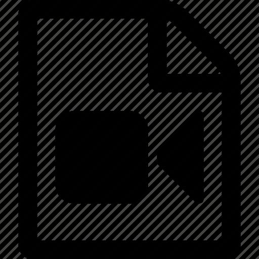 file, movie, video file icon