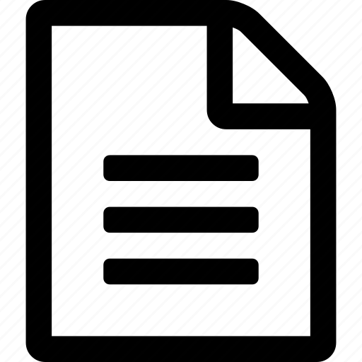 file, new, o, text icon