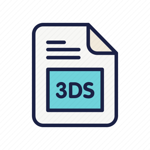 autodesk 3ds max, document, extension, file, type icon