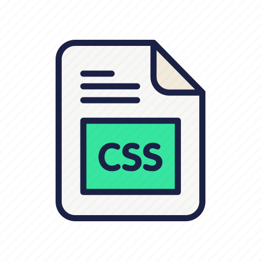 css, document, extension, file, type icon