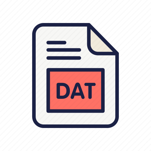 Dat, document, extension, file, type icon - Download on Iconfinder
