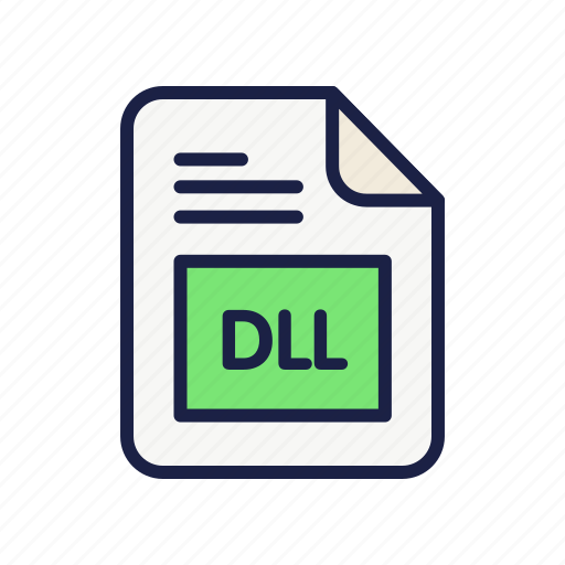 dll, document, extension, file, library, type icon