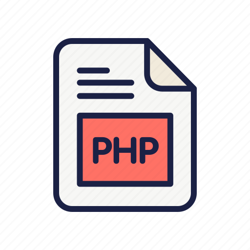 code, document, extension, file, php, type icon