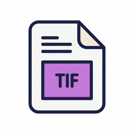 document, extension, file, image, tif, type icon