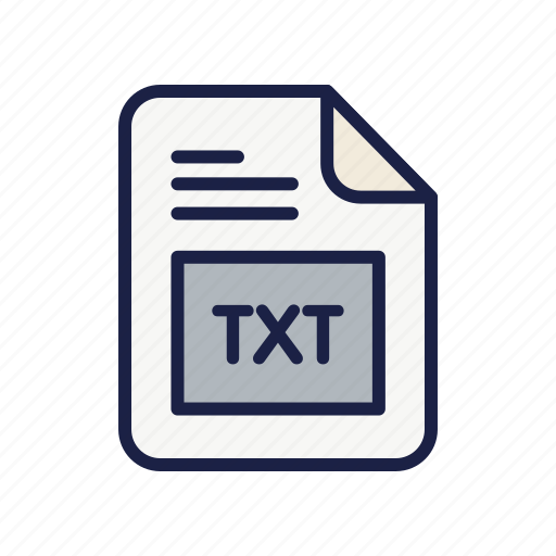 document, extension, file, txt, type icon