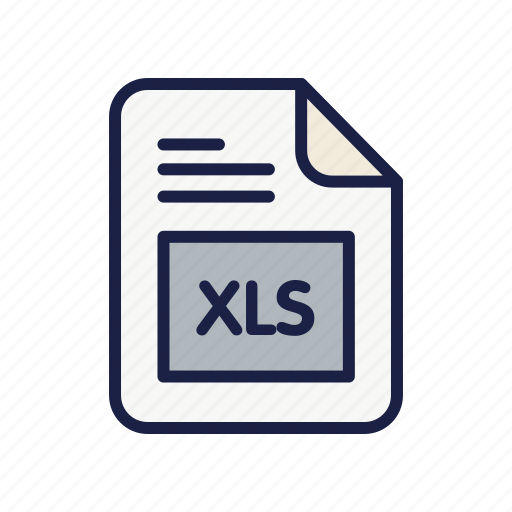 document, extension, file, type, xls icon